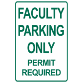 Faculty Only Permit Required