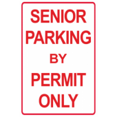 Senior Parking Permit Only