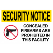 No Concealed Firearms