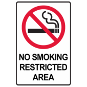 No Smoking Restricted Area