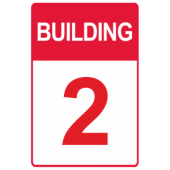 Red Custom Building Number
