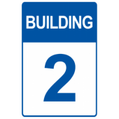 Blue Custom Building Number