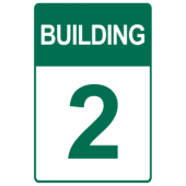 Green Custom Building Number