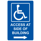 Access At Side of Building - Right Arrow