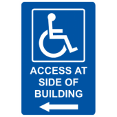 Access At Side of Building - Left Arrow