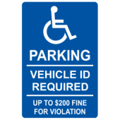 Handicap Vehicle ID Required