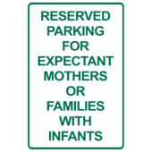 Reserved Parking - Pregnant/Infants