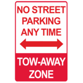 No Street Parking - Tow Away Zone