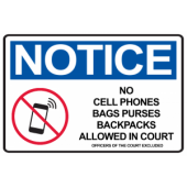 No Phones in Courtroom