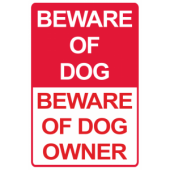 Beware of Dog/Owner