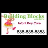 Building Blocks Infant Daycare Magnetic Sign - Magnetic Sign