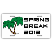 Spring Break License Plate
