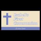Isabels First Communion Vinyl Banner