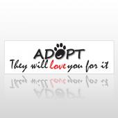 Adopt 201 Bumper Sticker