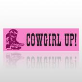Cowgirl Up 144 Bumper Sticker