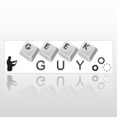 Geek Guy 127 Bumper Sticker
