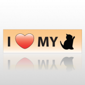 Heart Kitten 52 Bumper Sticker