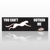 Outrun Me 227 Bumper Sticker