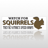 Squirrel Bumps 246 Bumper Sticker