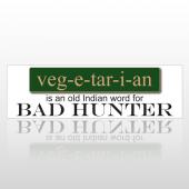 Veg-e-tar-i-an 132 Bumper Sticker