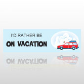 On Vacation 18 Bumper Sticker
