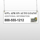 Auto Loan 155 Window Sign