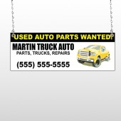 Black & Yellow Truck 326 Window Sign