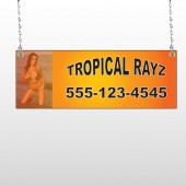 Tropical Rayz Tan 490 Window Sign