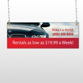 Car Rental 112 Window Sign