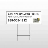 Auto Loan 155 Wire Frame Sign