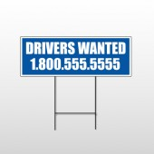 Drivers Wanted 314 Wire Frame Sign