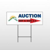 Auction Right Arrow 729 Wire Frame Sign