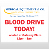 Blood Drive 330 Custom Sign