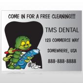Brushing Germ 502 Custom Sign