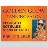 Golden Glow 491 Custom Sign