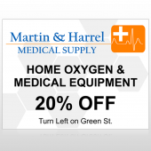 Home Oxygen 139 Custom Sign