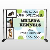 Dog Kennels 300 Pocket Banner Stand