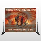 Fire 432 Pocket Banner Stand