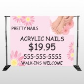 Nail Salon 291 Pocket Banner Stand