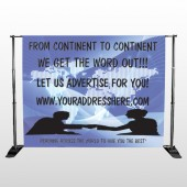 Map Silhouette 433 Pocket Banner Stand
