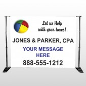 Pie Taxes 172 Pocket Banner Stand