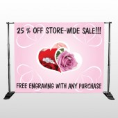 Pink Rose Hidden Ring 399 Pocket Banner Stand