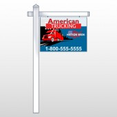 "American Truck 295 18""H x 24""W Swing Arm Sign"