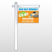 "Blue Moving 294 18""H x 24""W Swing Arm Sign"