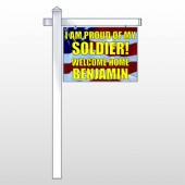 "Flag 52 18""H x 24""W Swing Arm Sign"