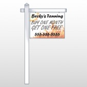 "Flaming Suntan 298 18""H x 24""W Swing Arm Sign"