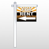"For Rent 720 18""H x 24""W Swing Arm Sign"