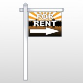 "For Rent 721 18""H x 24""W Swing Arm Sign"