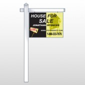 "Gold Puzzle House 864 18""H x 24""W Swing Arm Sign"
