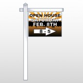 "Open Right Arrow 715 18""H x 24""W Swing Arm Sign"